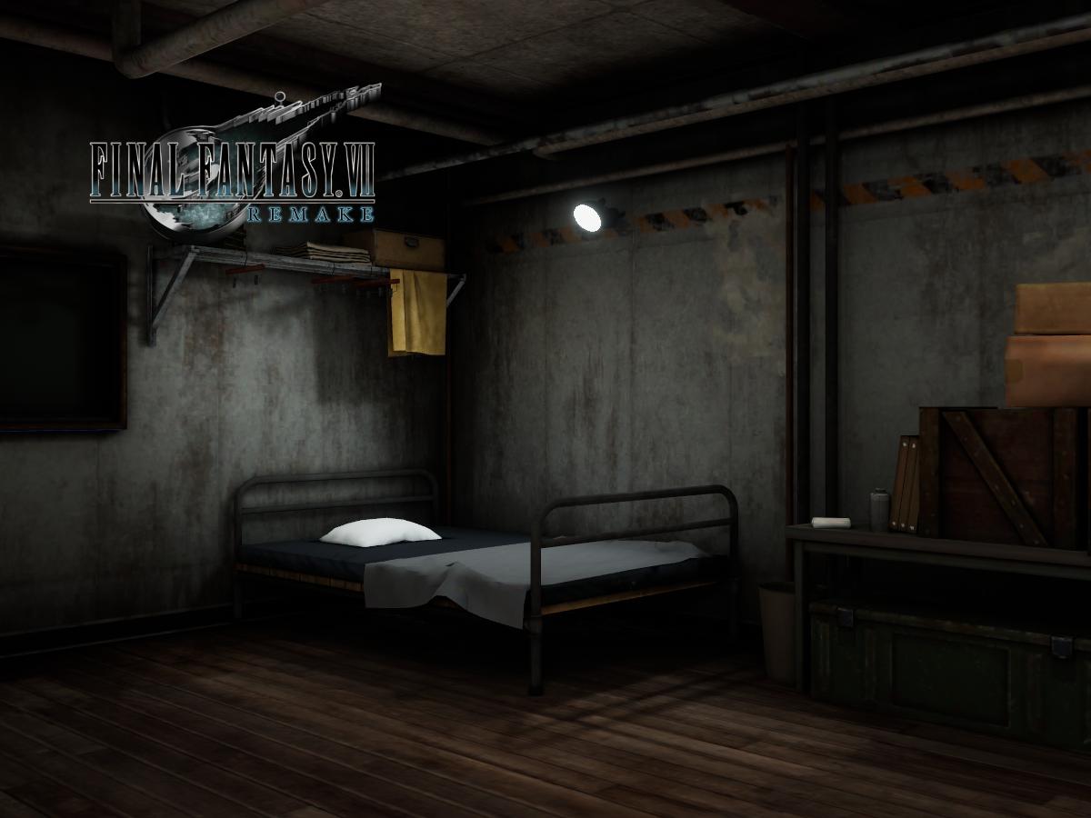 Cloud's Apartment - Final Fantasy VII Remake