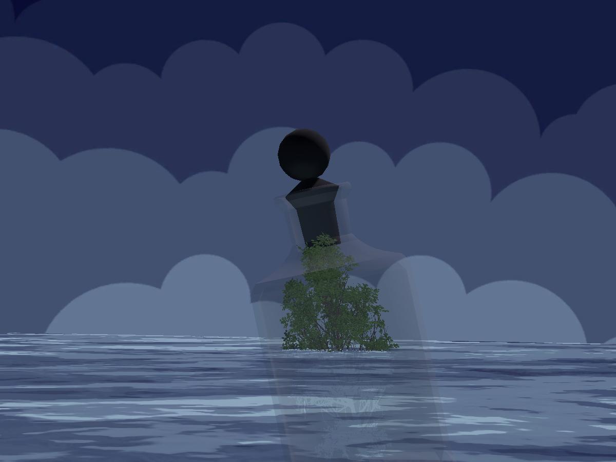 Bottle Among the Ocean