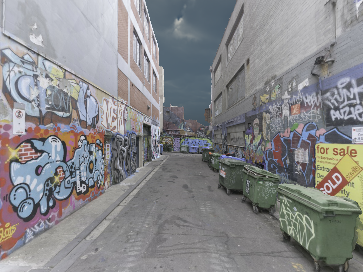Graffiti Alleyway 〈3D Scan〉