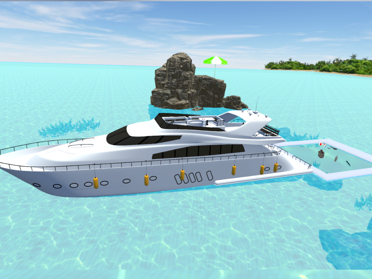 Yacht swimming pool