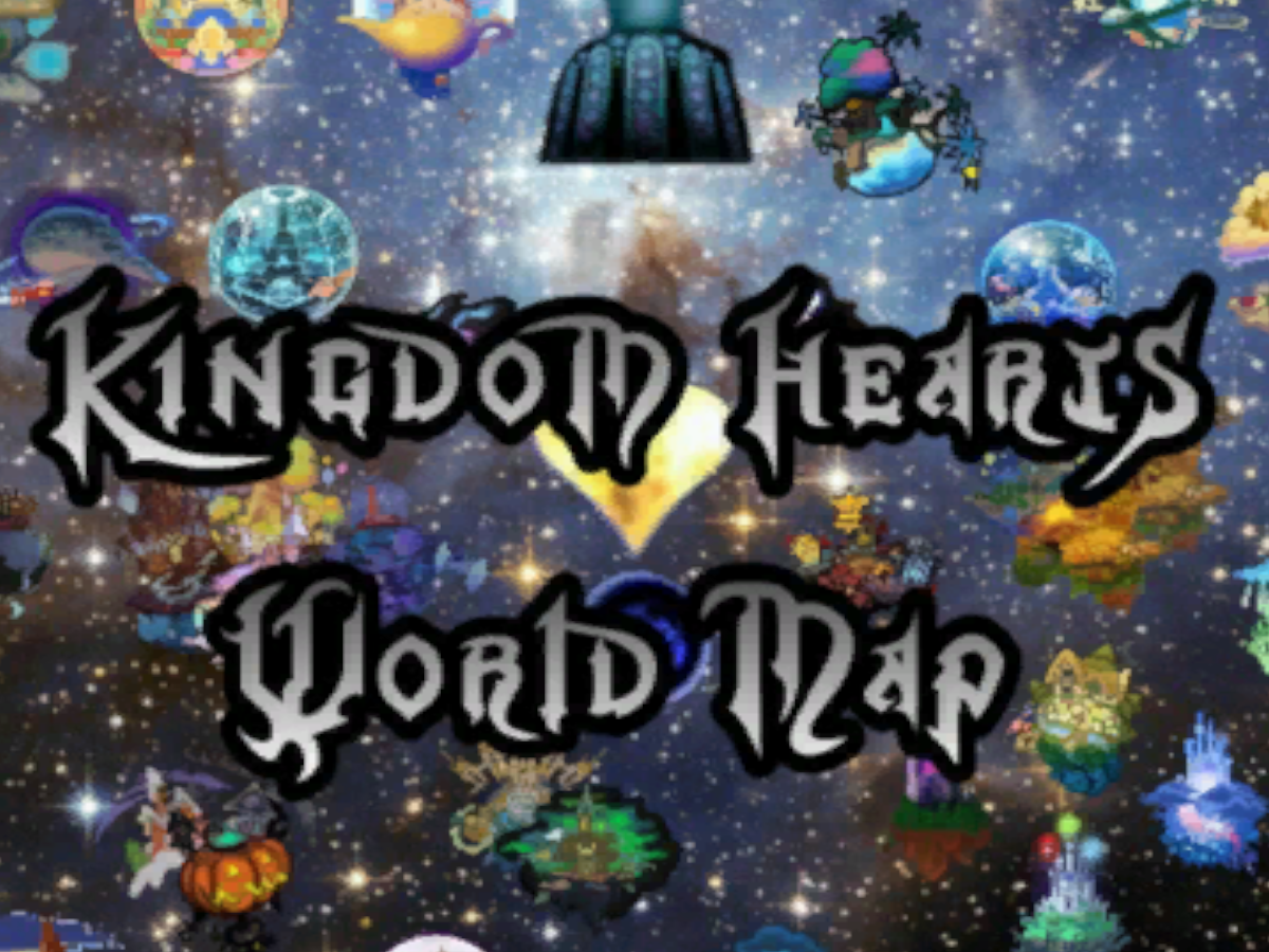 Kingdom Hearts World Map