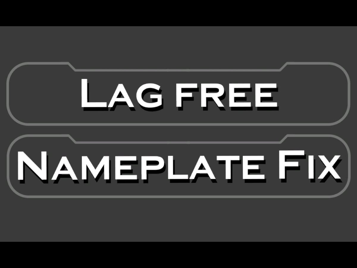 Lag-free & Nameplate Color Fix - Box