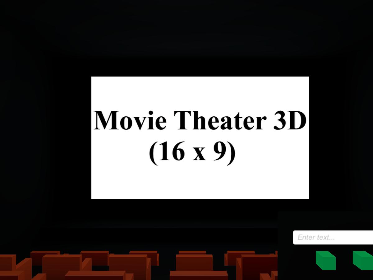 Movie Theater 3D 16x9