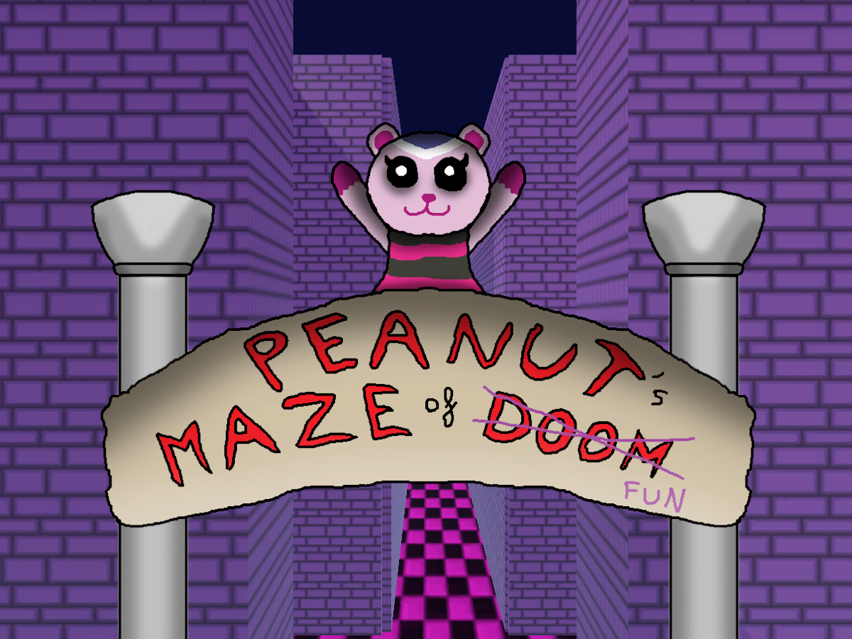 Peanut's maze of fun!