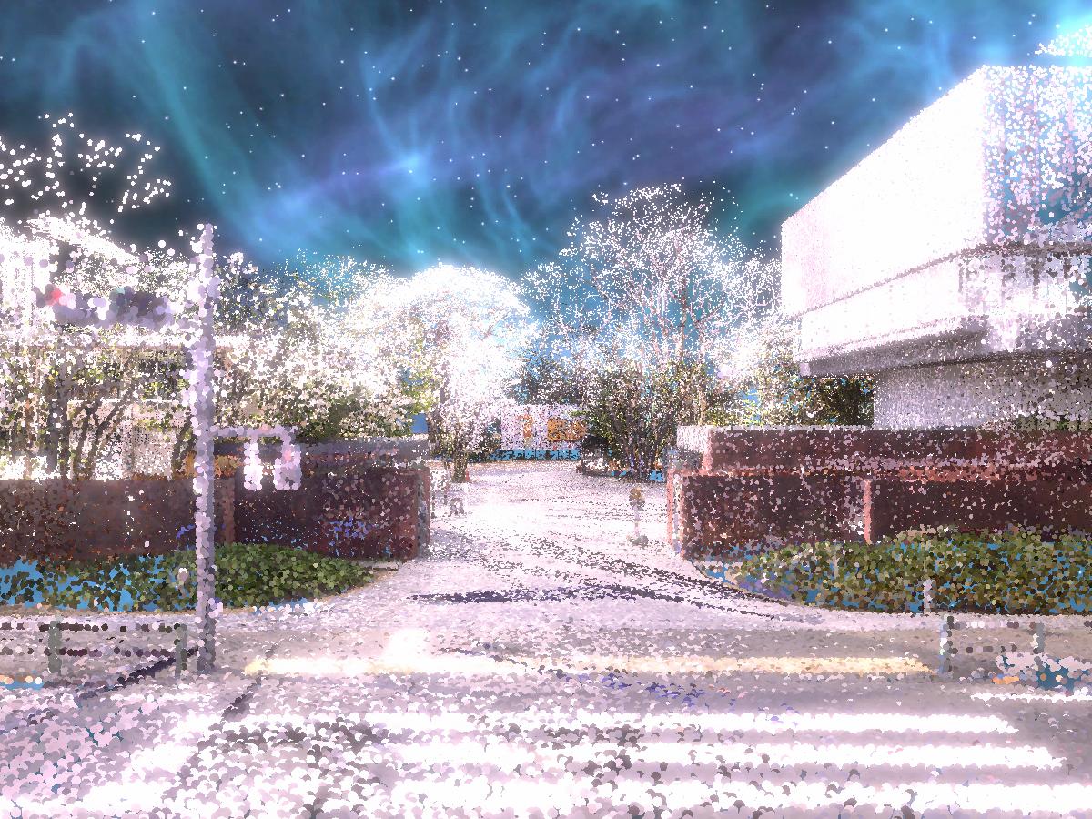 Point Cloud Geidai -YOZAKURA-