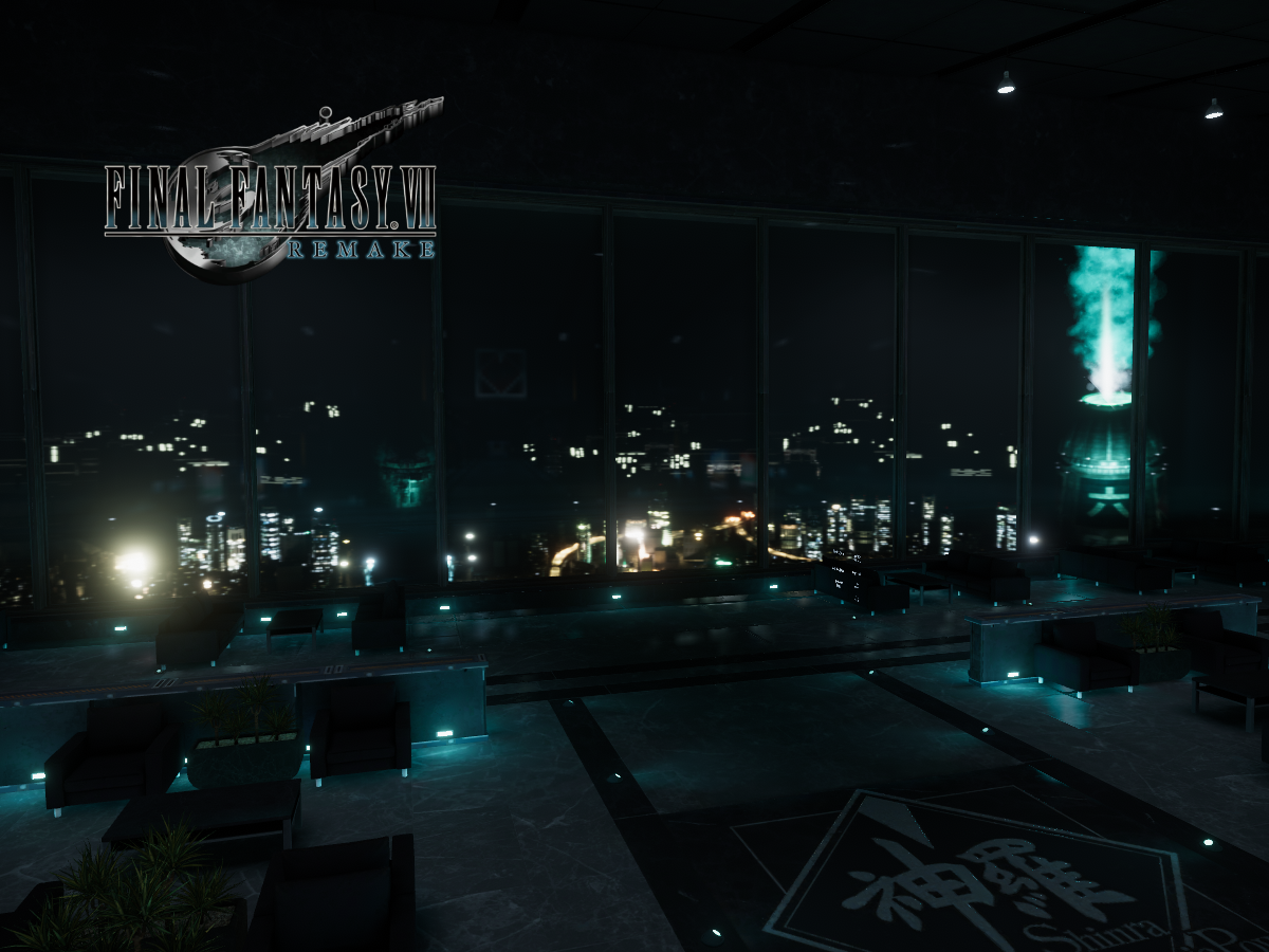 Shinra Skyview Hall - Final Fantasy VII Remake