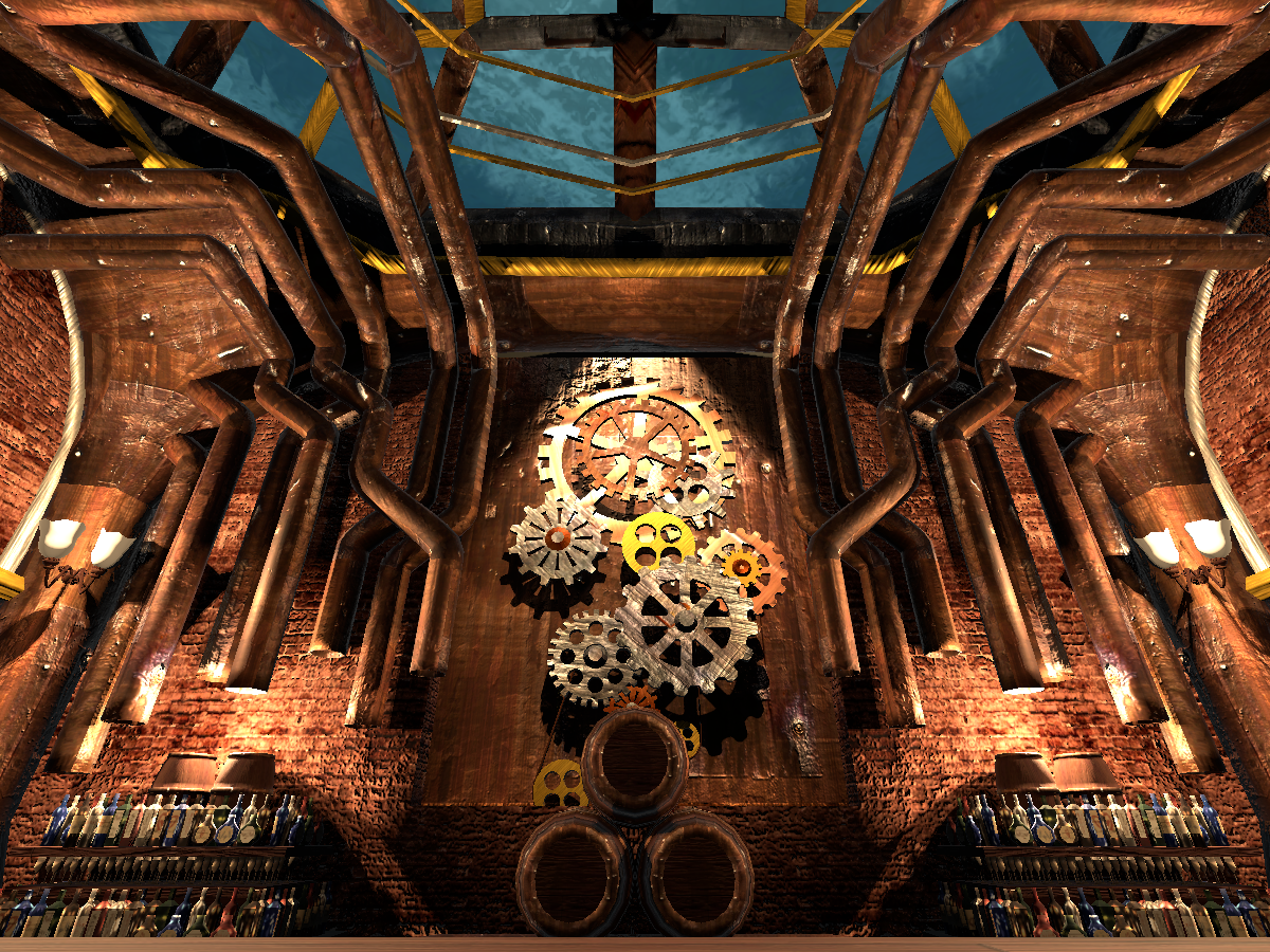 Steam Punk Warehouse Bar