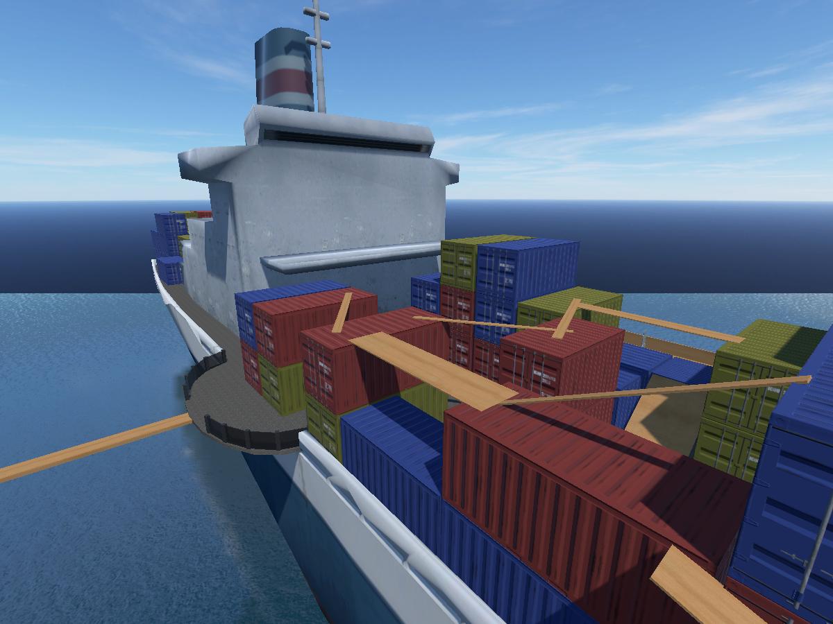 Secret cargo ship HQ
