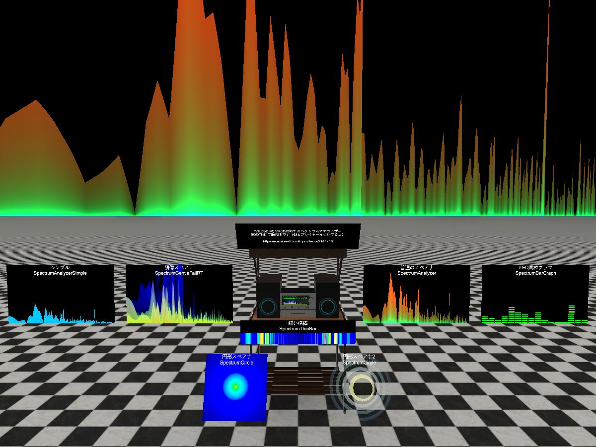 Udon SpectrumAnalyzer Demo