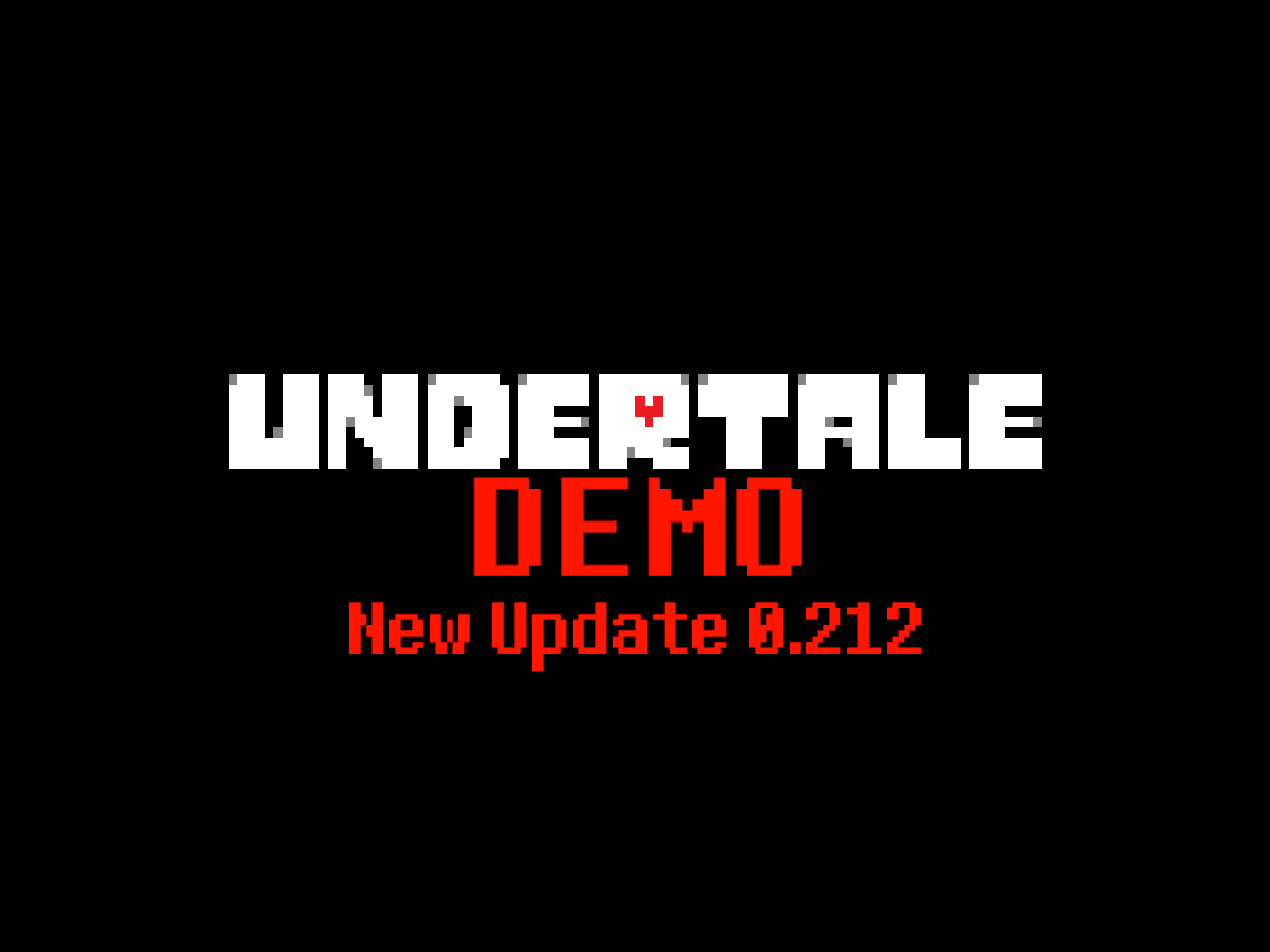 Undertale Demo ≺v0․212≻