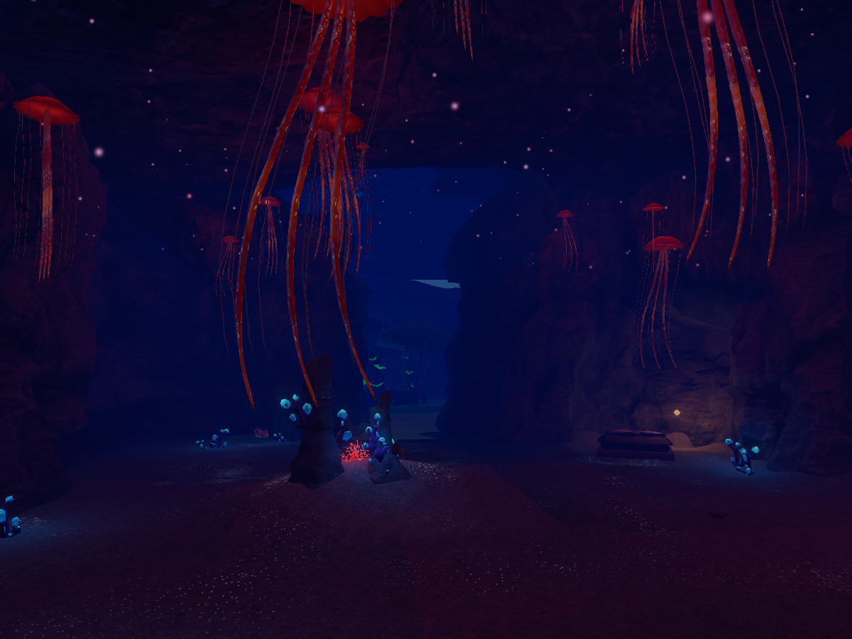Underwater Cave at Night