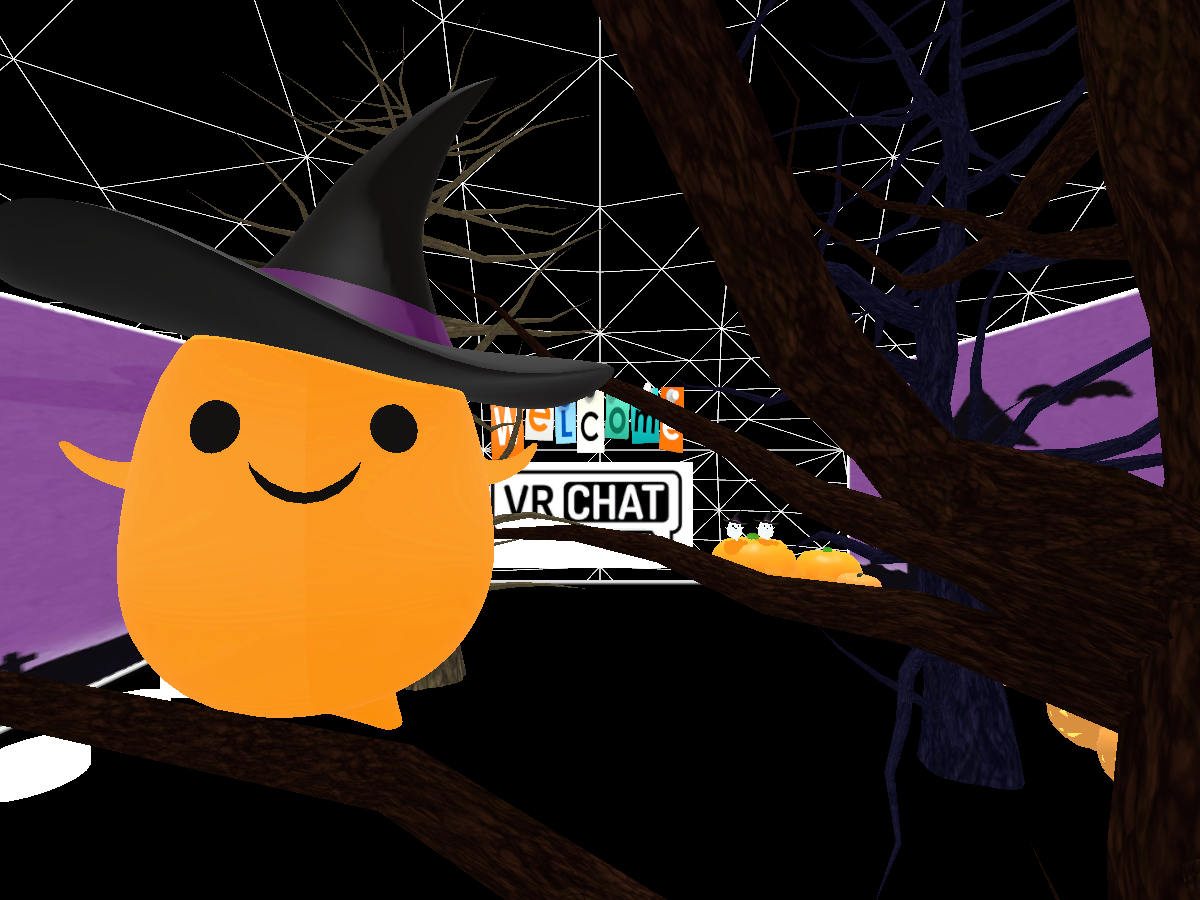 Welcome VRChat v.HalloWeen .AvatarWolrd .Japan .Newbie〈初心者〉