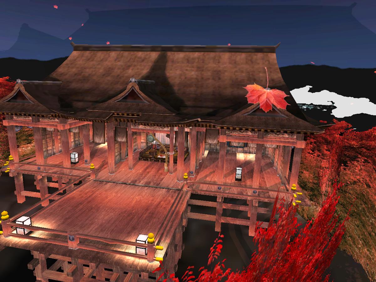 Autumn Japan Shrine Night