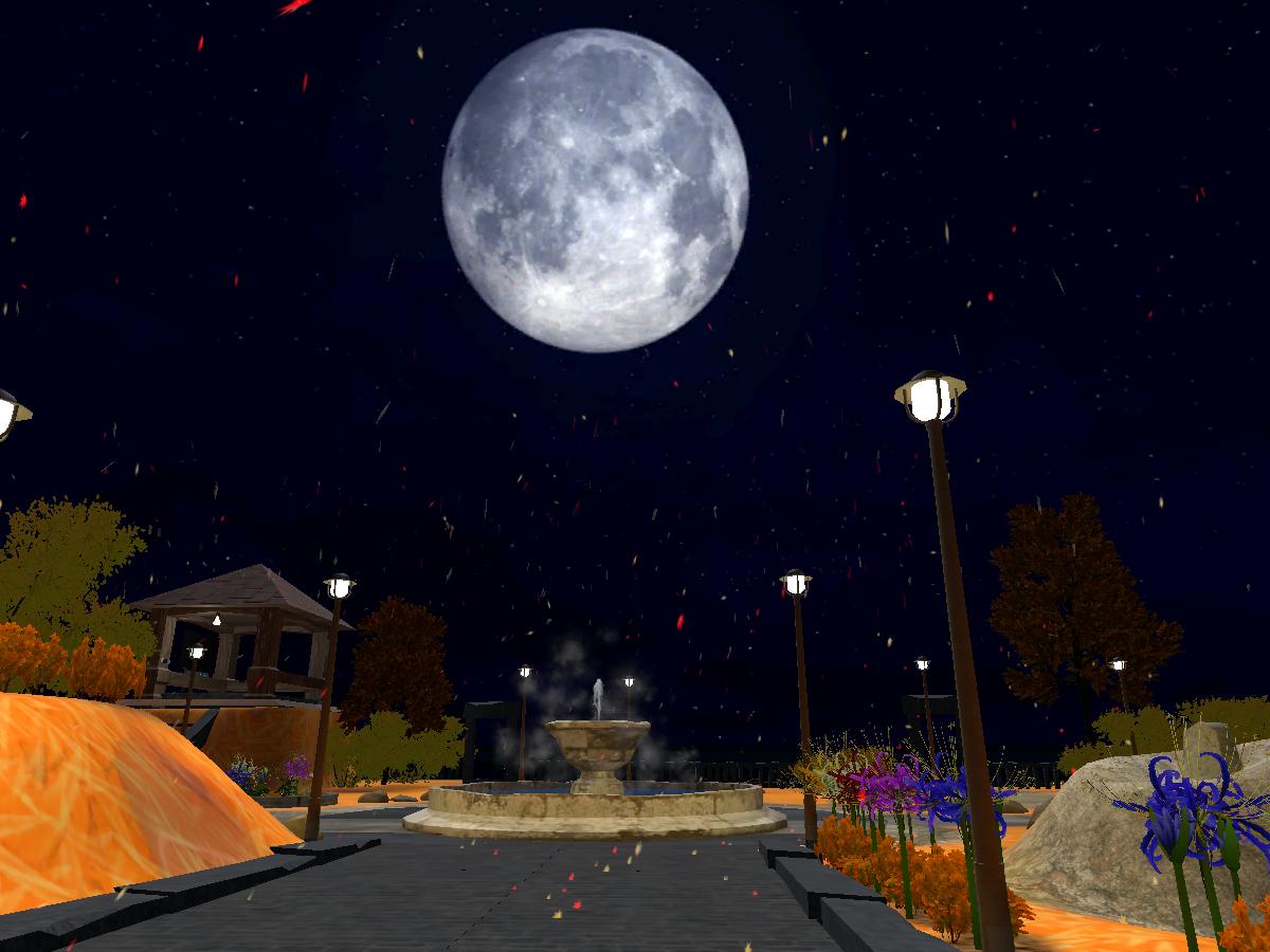月寄りの公園・秋 -moonlight park_autumn-