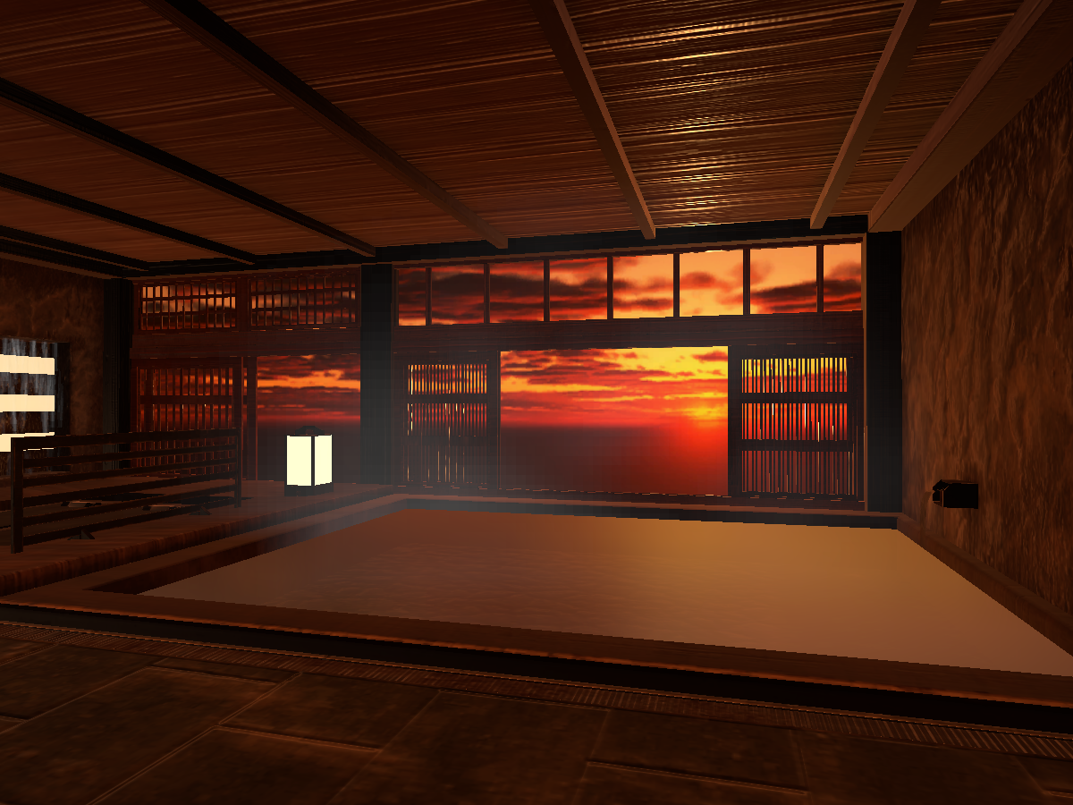 spa - sunset