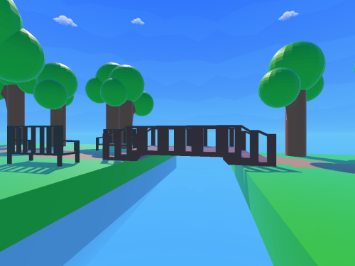 Low Poly Sky Forest