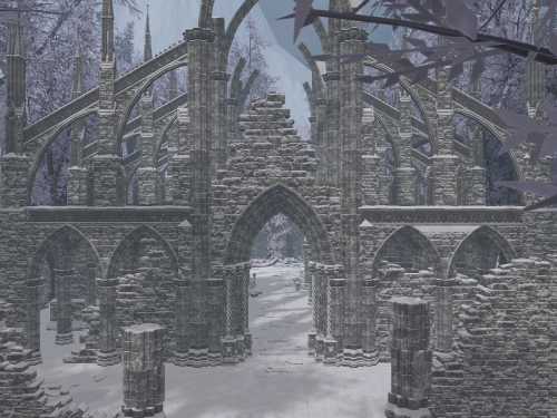 Ruins in Winter