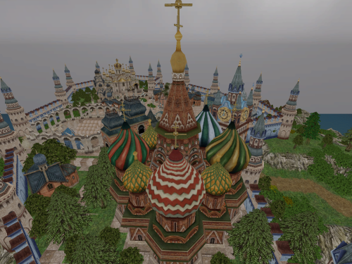 Rustic town of Moscovia