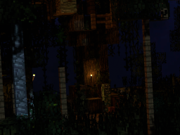 Minecraft Hangout but at night