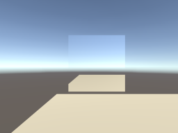 Flat world with a mirror