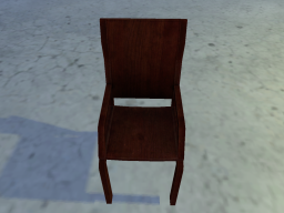 Concrete floor with a chair