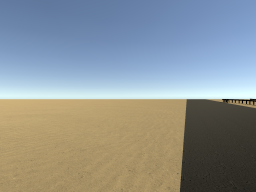 a very long highway in the desert