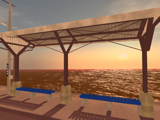 Small Station By The Sea (Sunset)