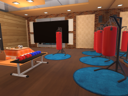 Boxing fitness room