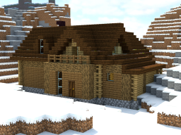 Chalet in the mountain Minecraft